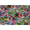 Wrapping vinyl foil, sticker bomb, 150 cm wide (price for each 10cm)