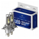 H4 CSP LED, CE E9 certifierade, 4000 LM 6000K CANBUS, 2 lampor