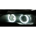 Angel Eyes Halo 4 ringar, CCFL, vita 7000K. BMW E36 E38 E39 E46 m.fl. bilar