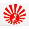"Klistermärke ""JDM Rising Sun"", 100x100mm"