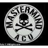 """Klistermärke """"Mastermind ACU"""", 100x100mm"""