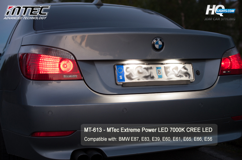 BMW skyltbelysning LED Cree MTec - BMW License plate MTec lights, cree canbus error free